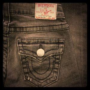 True Religion Joey Big T Jeans Sz 26 flare leg